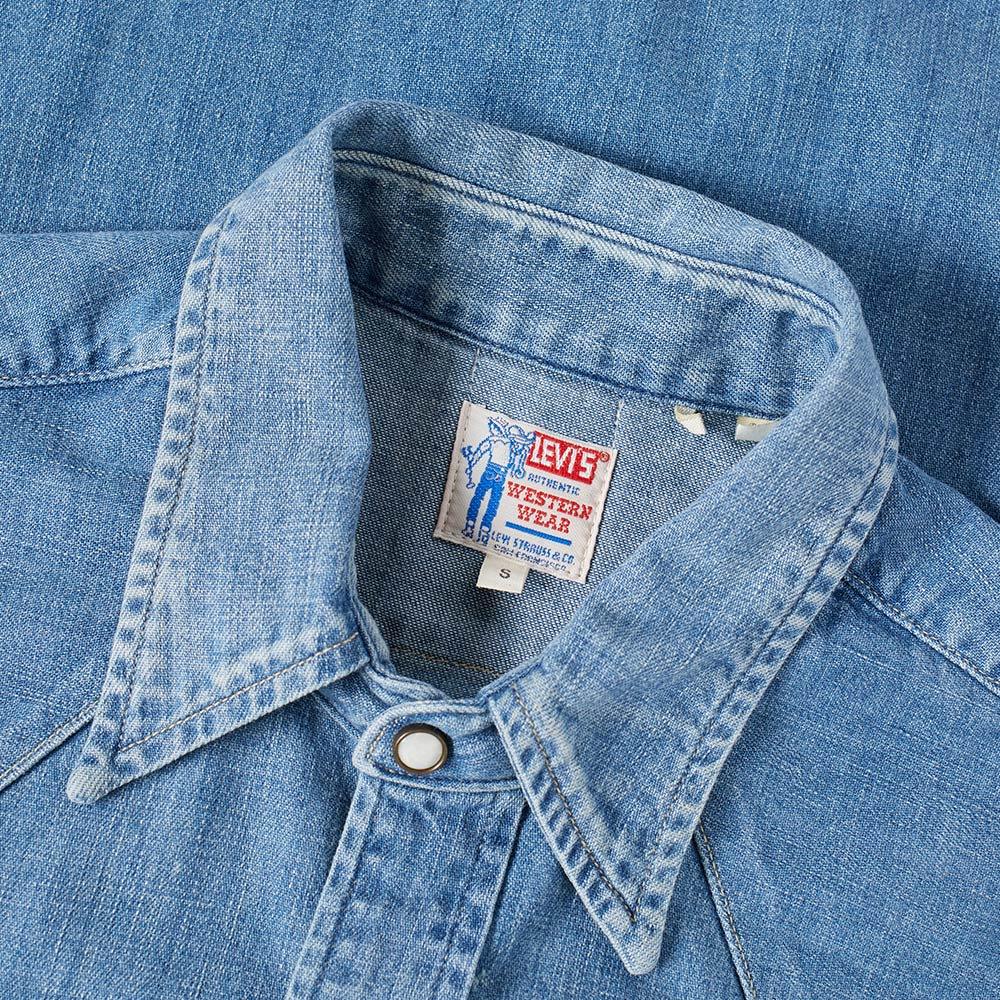 4b492cb657d1 Levi's Vintage Clothing 1955 Sawtooth Denim Shirt Wild Thyme   END.