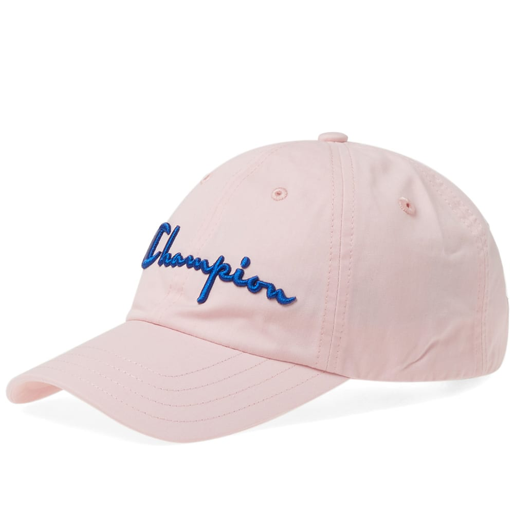 CHAMPION. Champion Reverse Weave Logo Baseball Cap in Pink 396489a88377