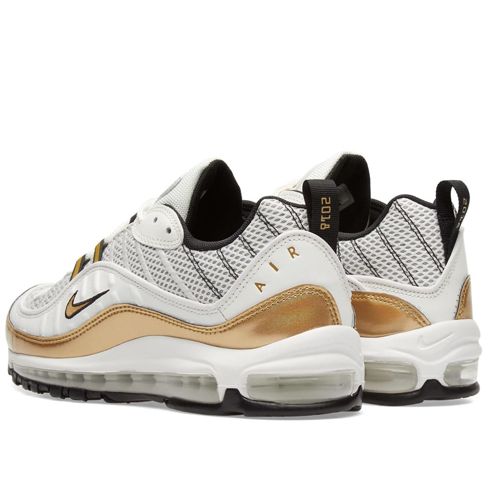 75481ecd0f ... nike air max 98 uk gmt summit white metallic gold end.