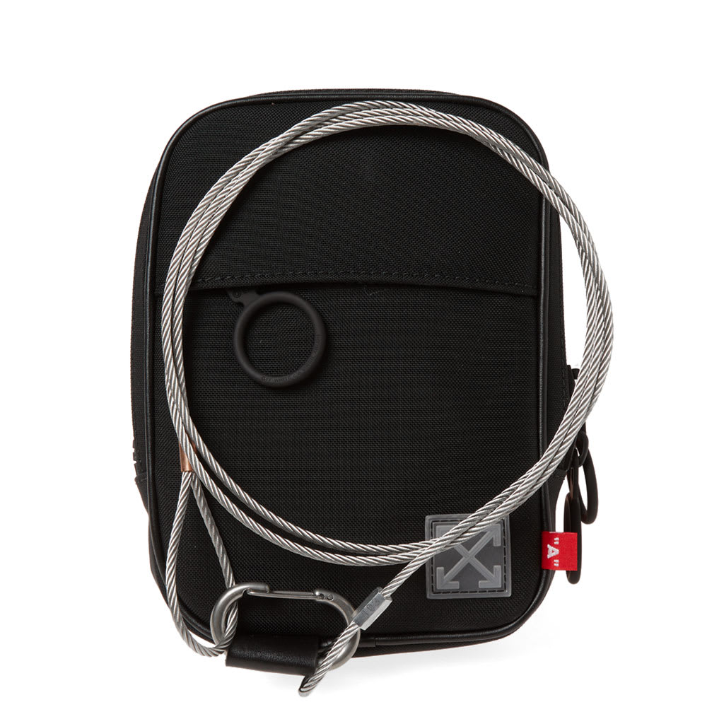 b588a94e873aca Off-White Tape Mini Crossbody Bag Black