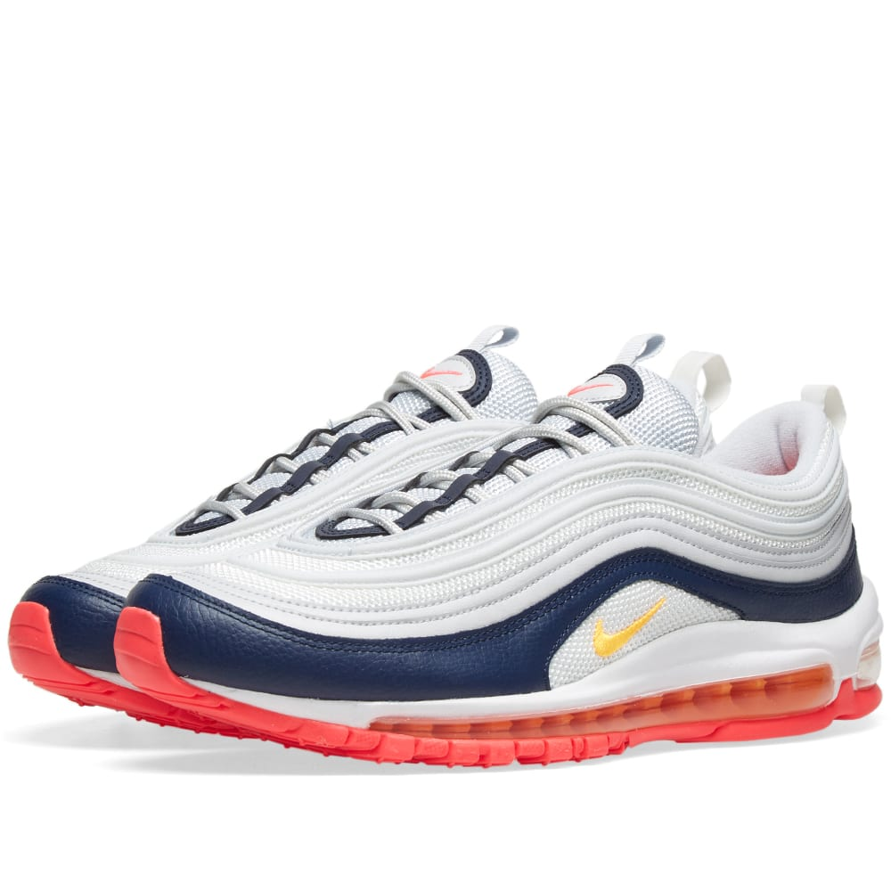 hot sale online e7b87 dc991 Nike Air Max 97 W Platinum, Orange, Navy   Pink   END.
