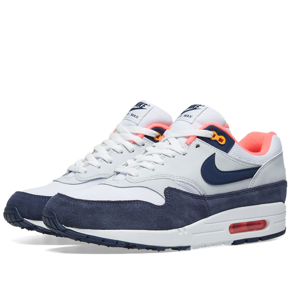 best authentic 2d398 bf364 Nike Air Max 1 W White, Navy, Pink   Orange   END.