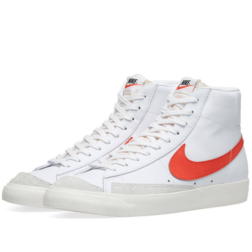quality design c7dd3 362d6 Nike Blazer Mid  77 Vintage Habanero Red, Sail   White   END.