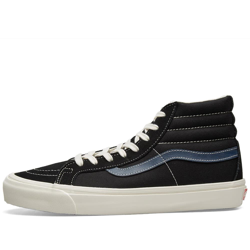 902752186a Vans Vault OG Sk8-Hi LX Black   Dress Blue