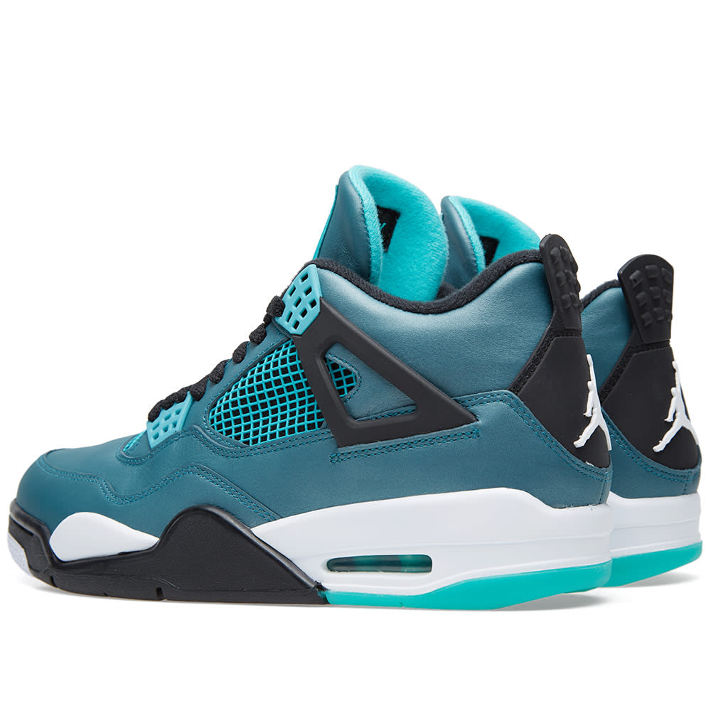 newest 400d9 7e652 Nike Air Jordan IV Retro 30th Anniversary  Teal  Teal, White   Black   END.