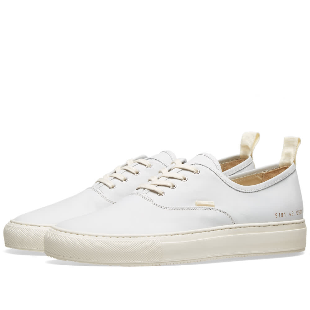 Common Projects Four Hole Nubuck White