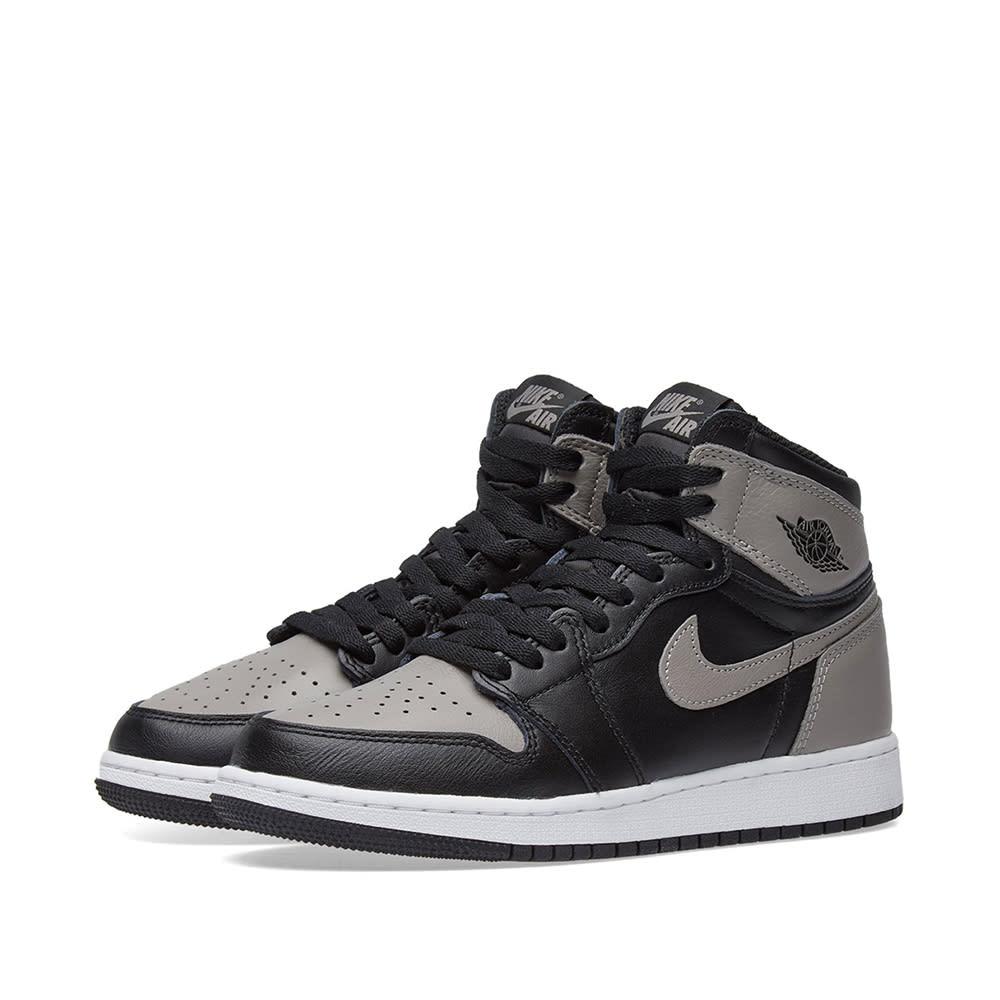 official photos 4a5a2 fb692 Nike Air Jordan 1 Retro High OG BG Black, Medium Grey   White   END.
