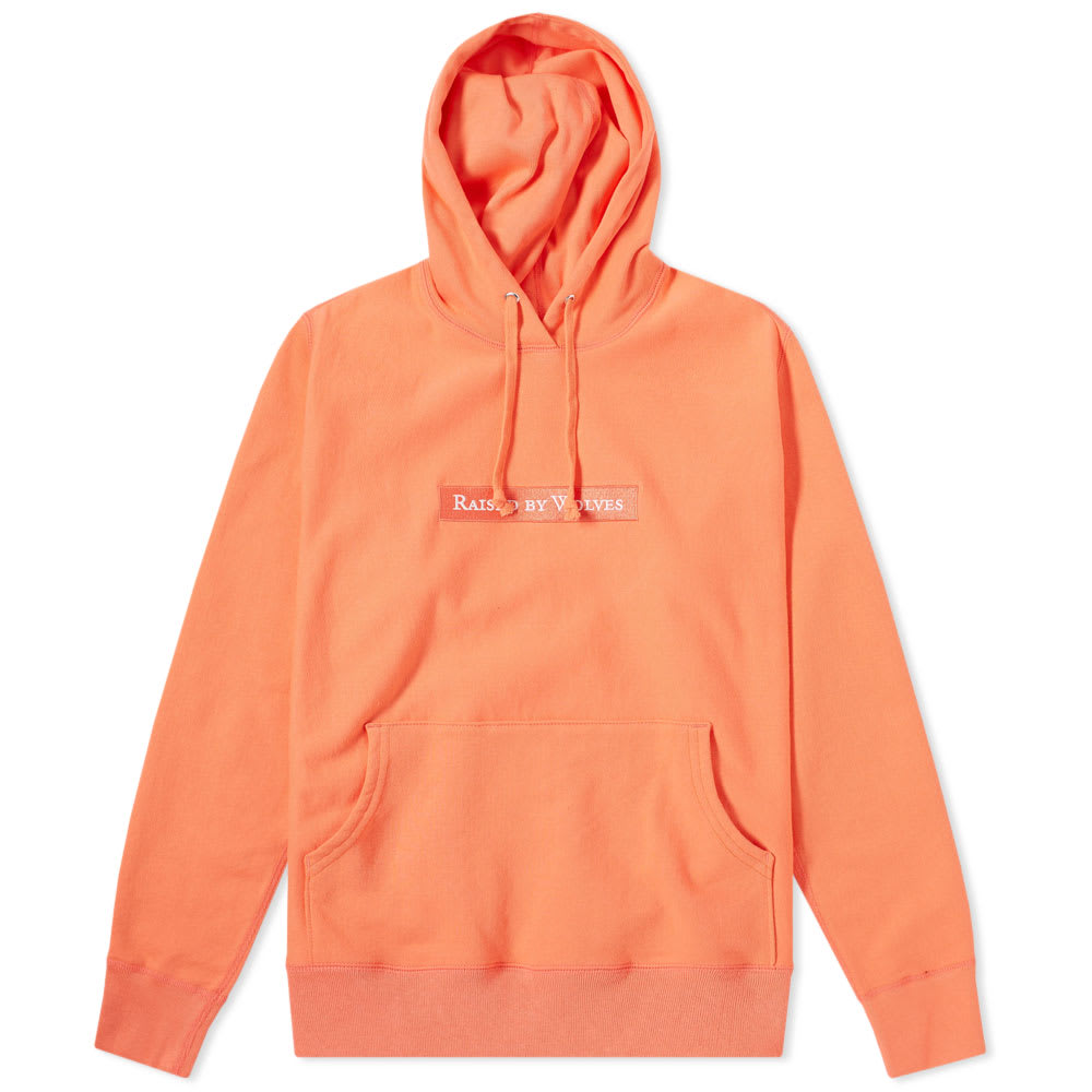 RAISED BY WOLVES BOX LOGO POPOVER HOODY