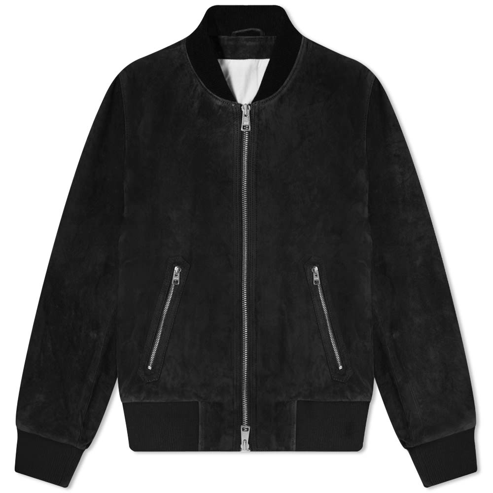 Ami Suede Bomber Jacket by Ami