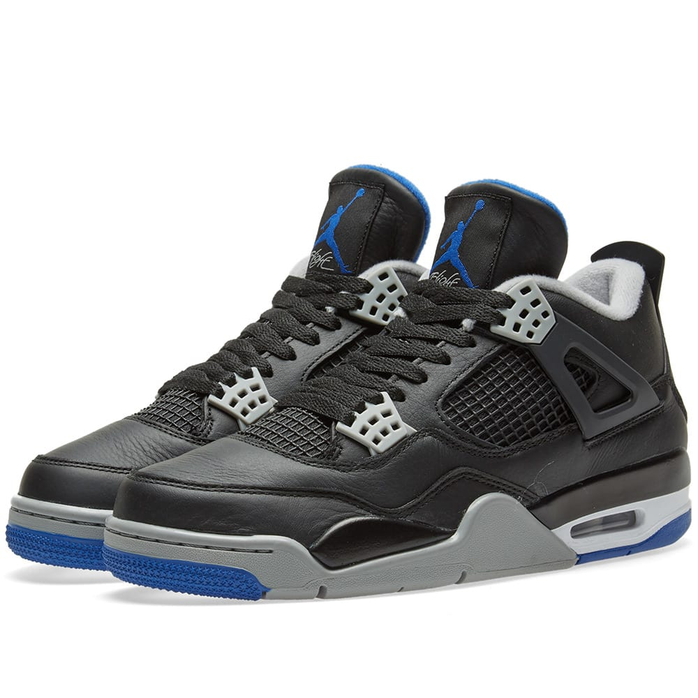 taille 40 93887 d79c6 Nike Air Jordan 4 Retro Black, Matte Silver & White | END.