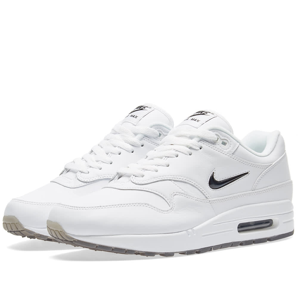 finest selection f296c 4437a Nike Air Max 1 Premium SC White   Black   END.