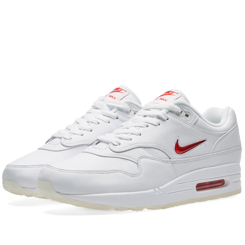 new styles c89fe 256d4 Nike Air Max 1 Premium SC White   University Red   END.