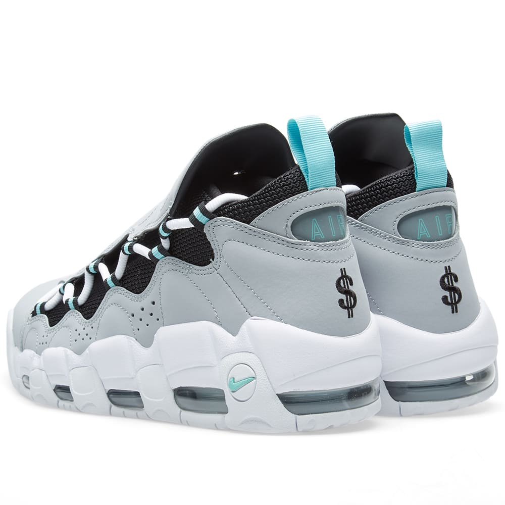 release date 97a7f 57e5c Nike Air More Money Wolf Grey   Island Green   END.
