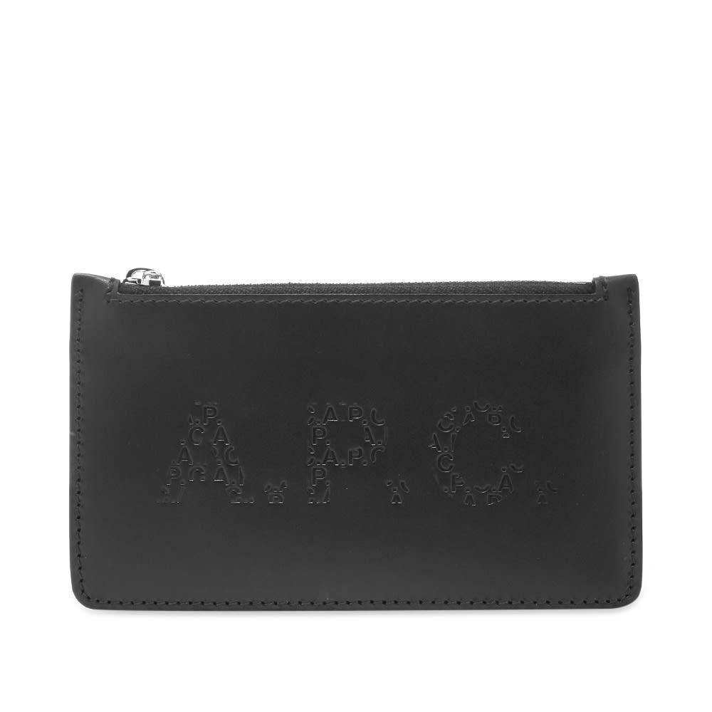 A.P.C. Walter Embossed Logo Zip Wallet
