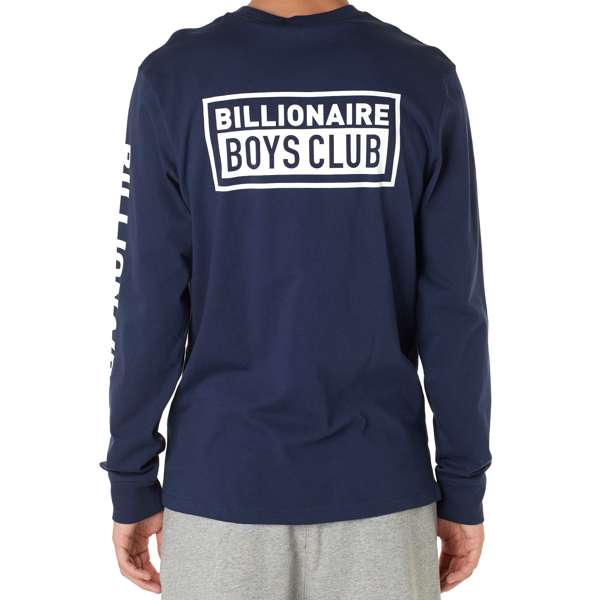 Billionaire Boys Club Long Sleeve Box Script Tee (Navy)