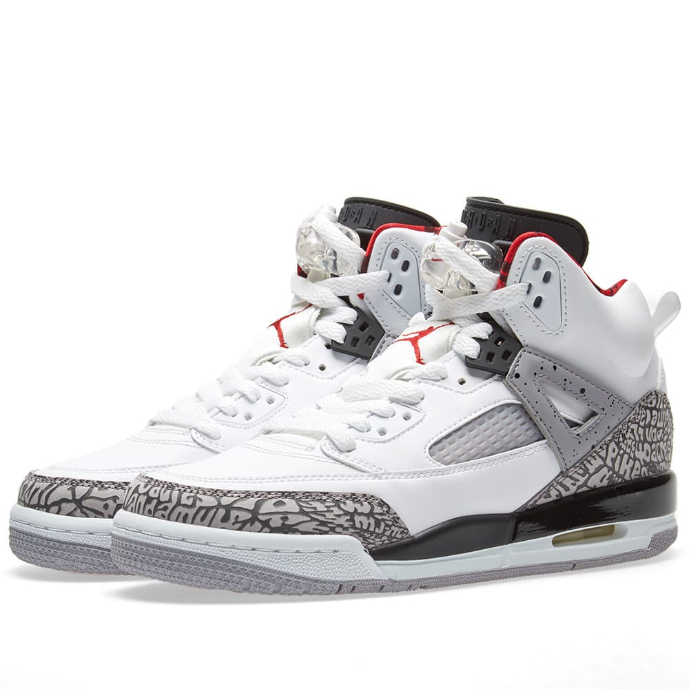 new arrivals b6eab f0502 Nike Air Jordan Spizike White, Varsity Red   Grey   END.