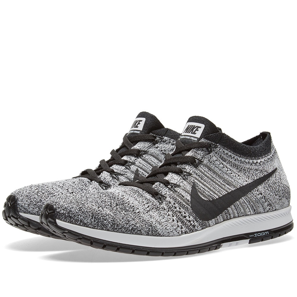 Nike Air Zoom Flyknit Streak 6 (Black Wolf Grey u0026 White)