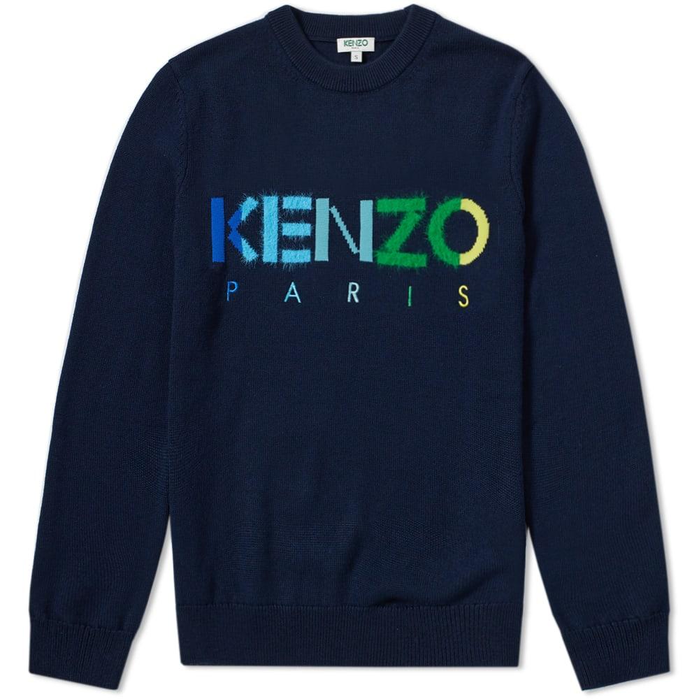 KENZO COLOUR PARIS LOGO KNIT