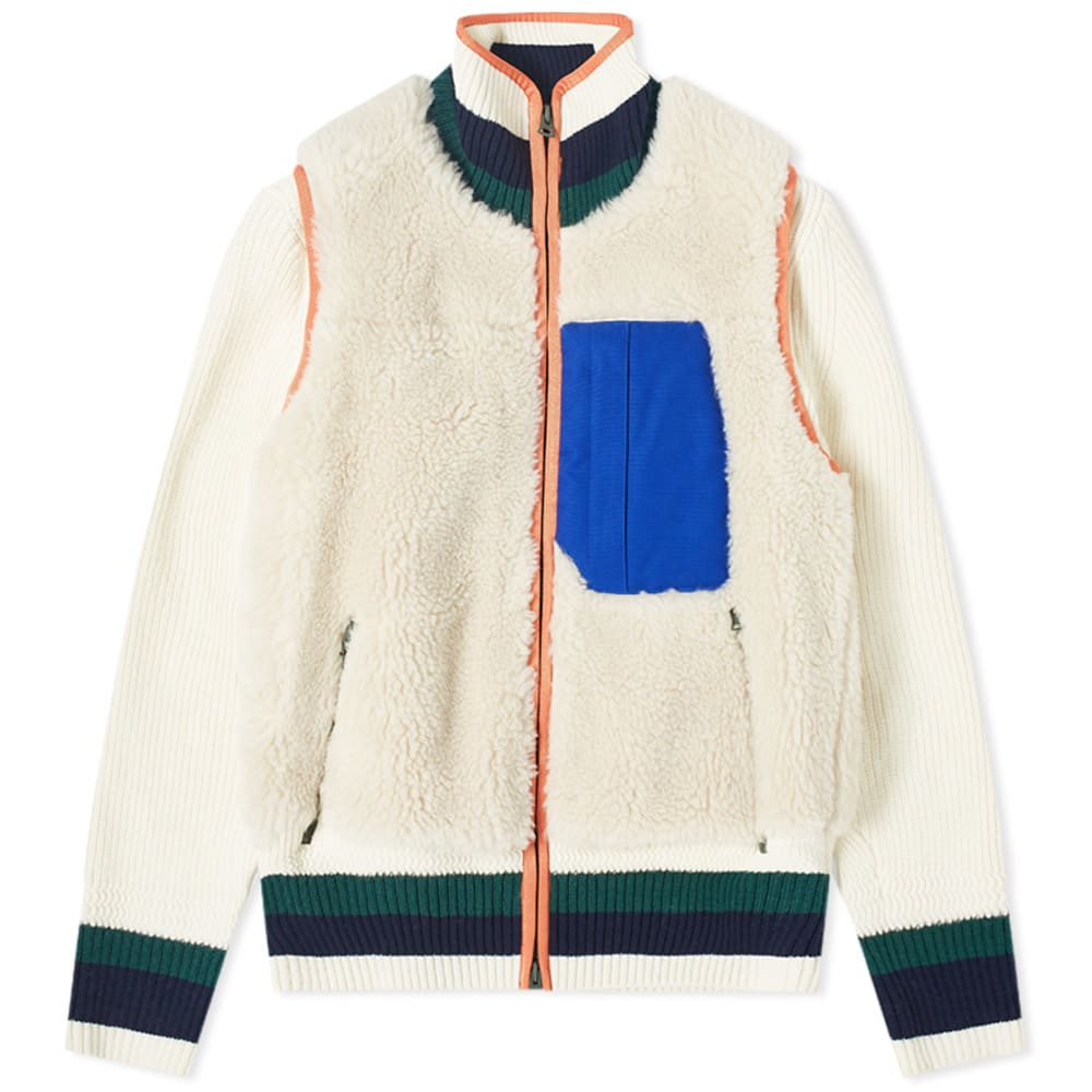 Sacai Sacai Faux Shearling Knit Jacket