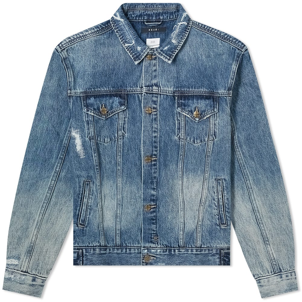 Ksubi Oh G Dollar Jacket In Blue