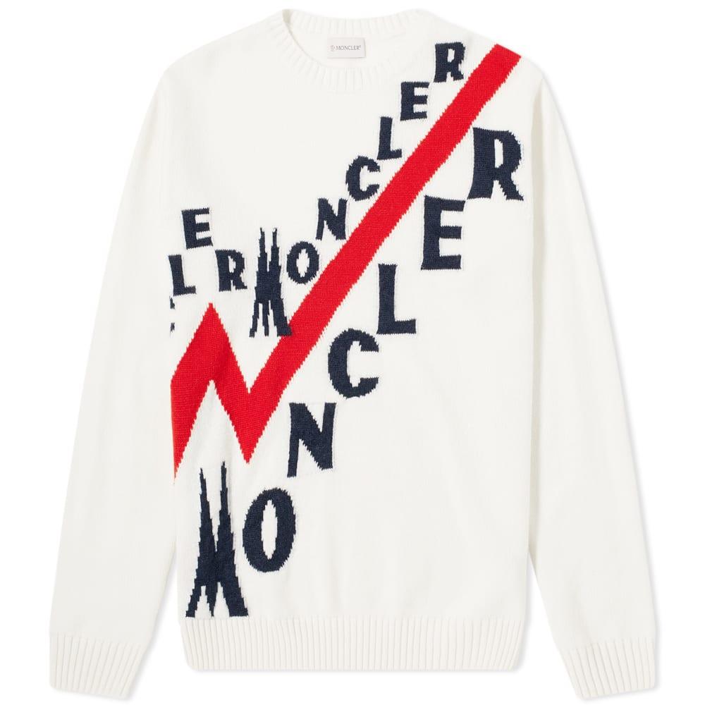 Moncler Logo Instarsia Crew Knit