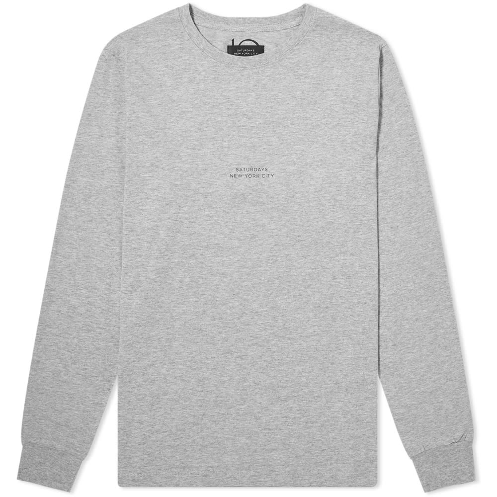 Saturdays Surf Nyc Tops Saturdays NYC Long Sleeve Gotham Chest Tee