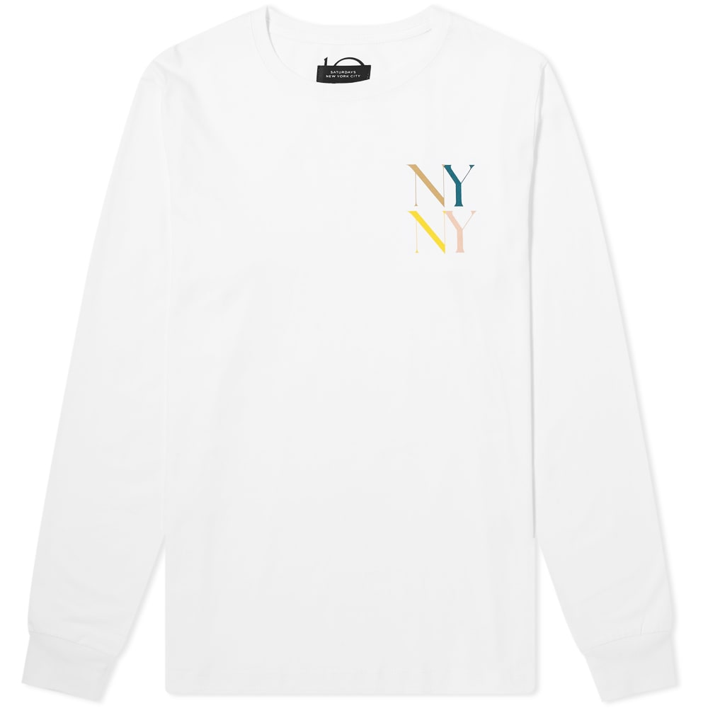 Saturdays Surf Nyc Tops Saturdays NYC Long Sleeve NY NY Multi-Colour Tee