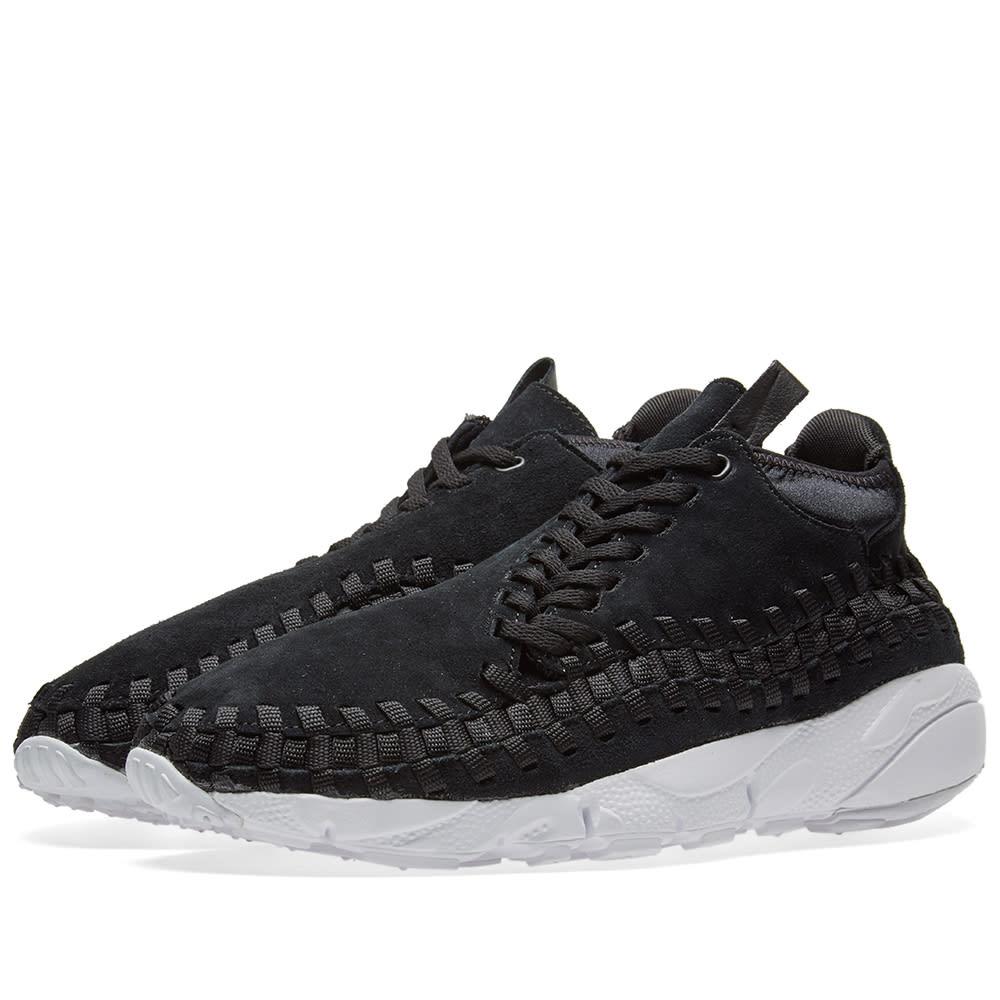 uk availability 499d7 e3b11 Nike Air Footscape Woven Chukka Black   White   END.