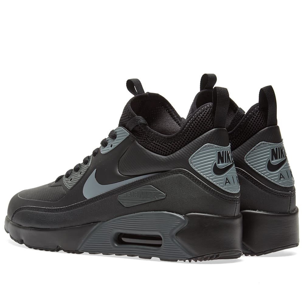 wholesale dealer 7e8a7 01b94 Nike Air Max 90 Ultra Mid Winter Black, Cool Grey   Anthracite   END.