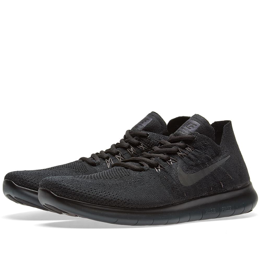 038c59948b4b Nike Free RN Flyknit 2017 Black   Anthracite