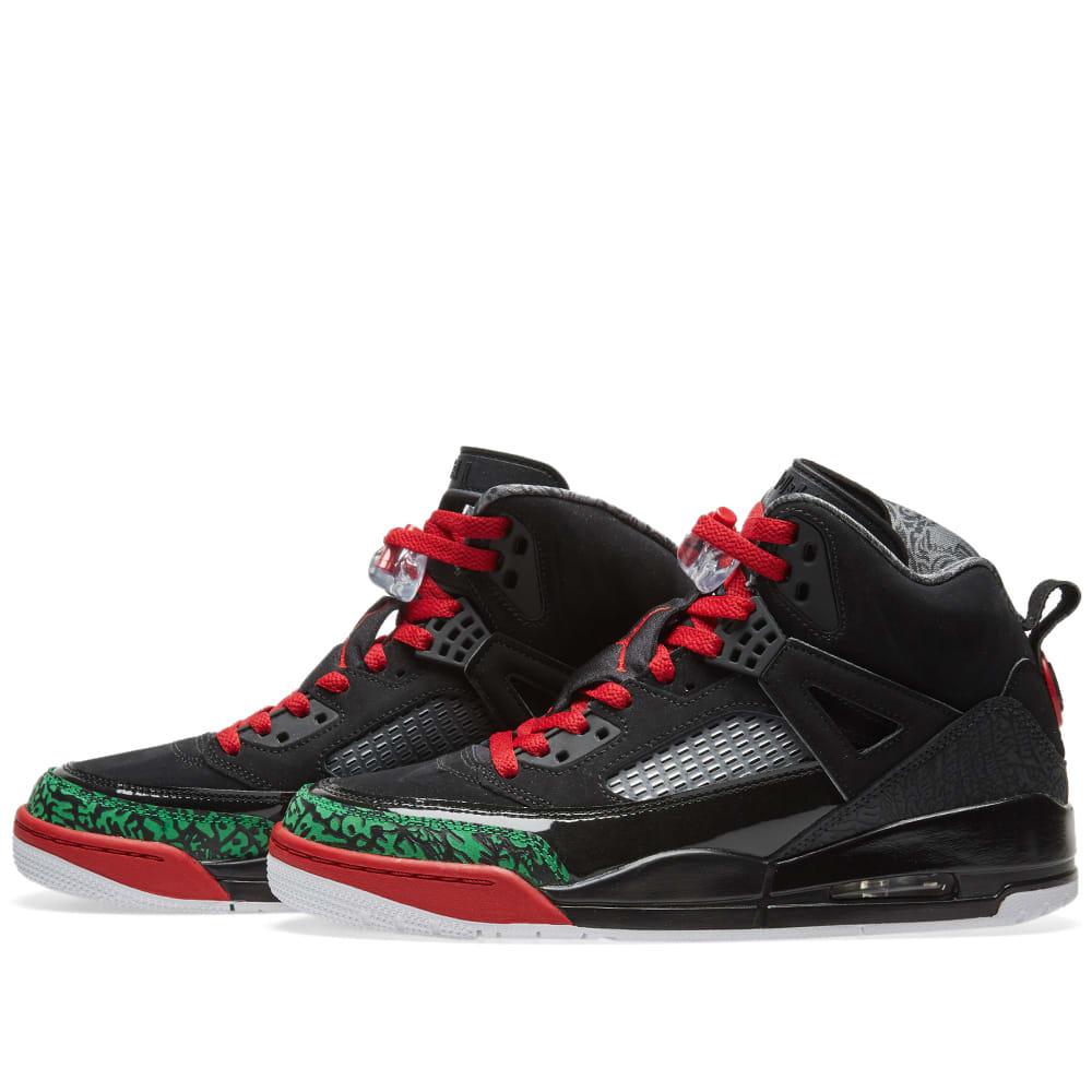 fd5b25db2e4 Jordan Spizike Black, Varsity Red & Green   END.