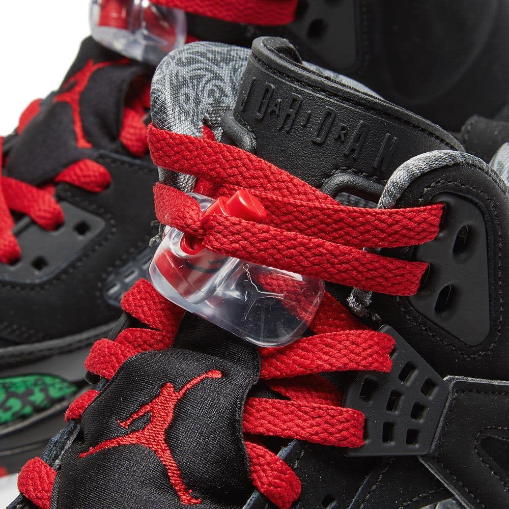 new style f5100 c978b Jordan Spizike Black, Varsity Red   Green   END.