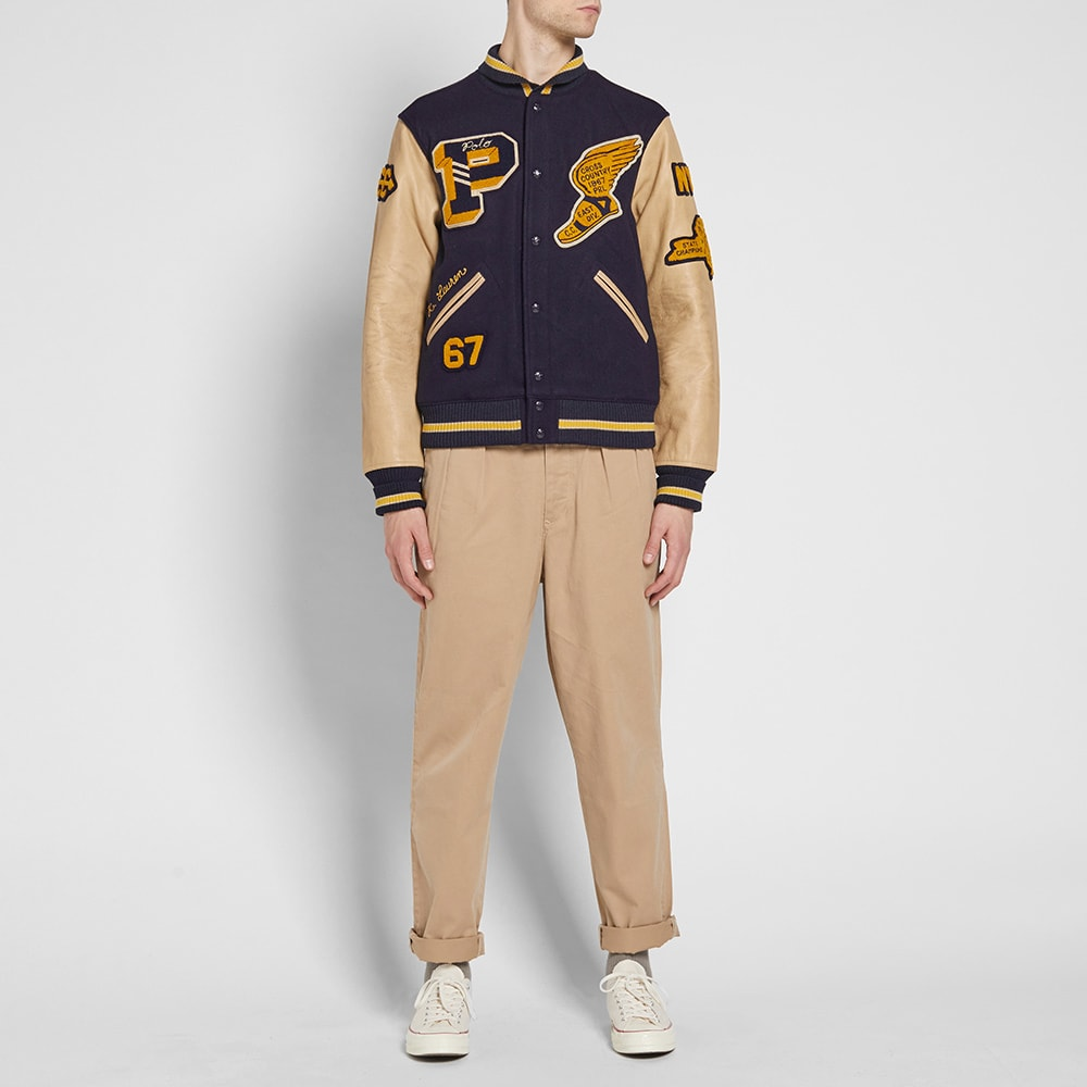 Polo Ralph Lauren Wool-blend Letterman Jacket in Blue for