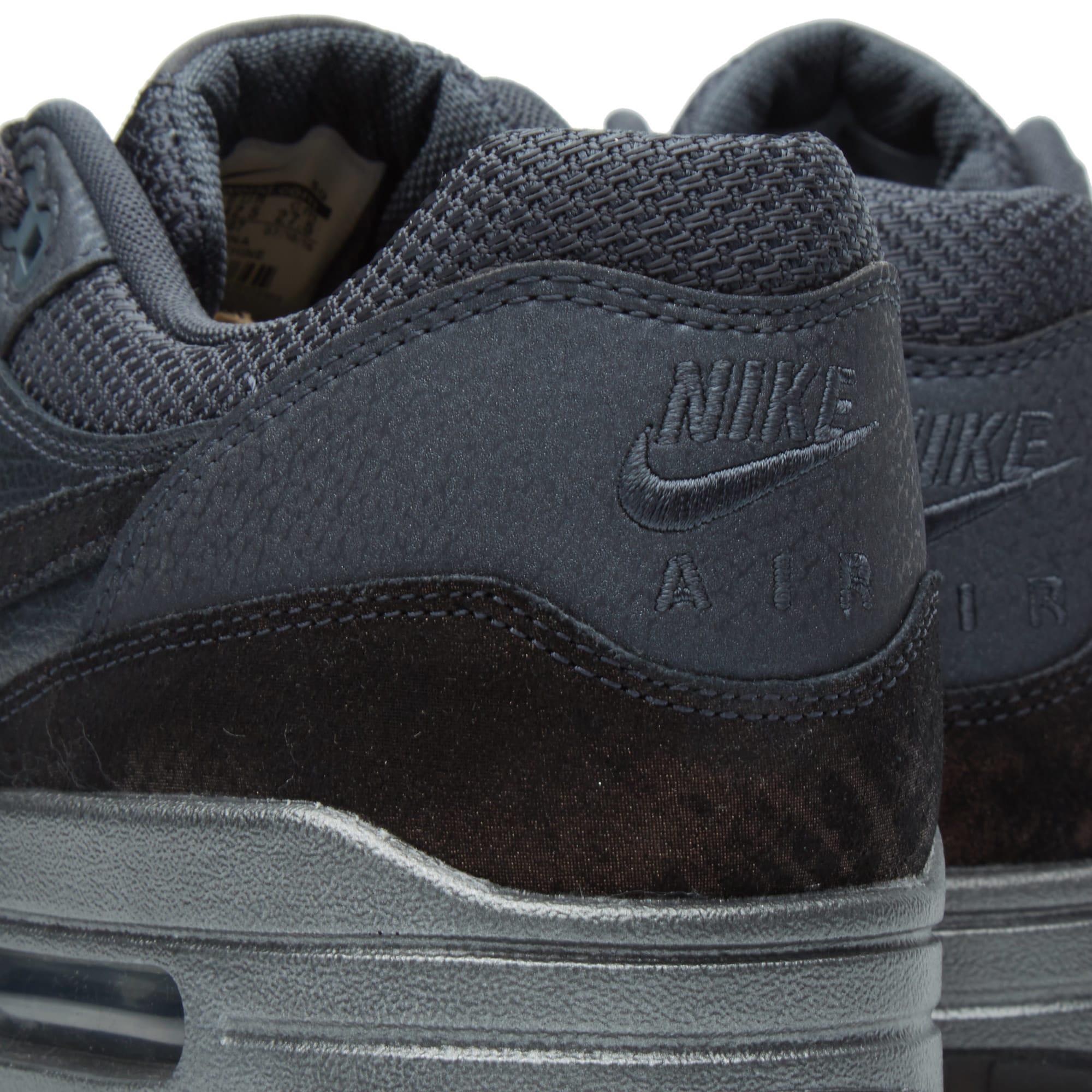 Nike Air Max 1 Premium BlackMetallic Hematite Black 454746
