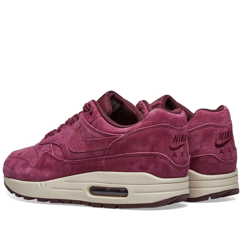 new concept fc2cf f5dbb Nike Air Max 1 Premium Bordeaux, Sand   Burgundy   END.