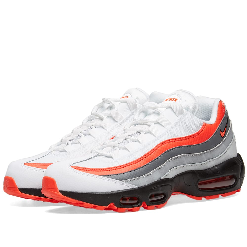 sale retailer 9509e 8c8b1 Nike Air Max 95 Essential White, Crimson, Black   Grey   END.