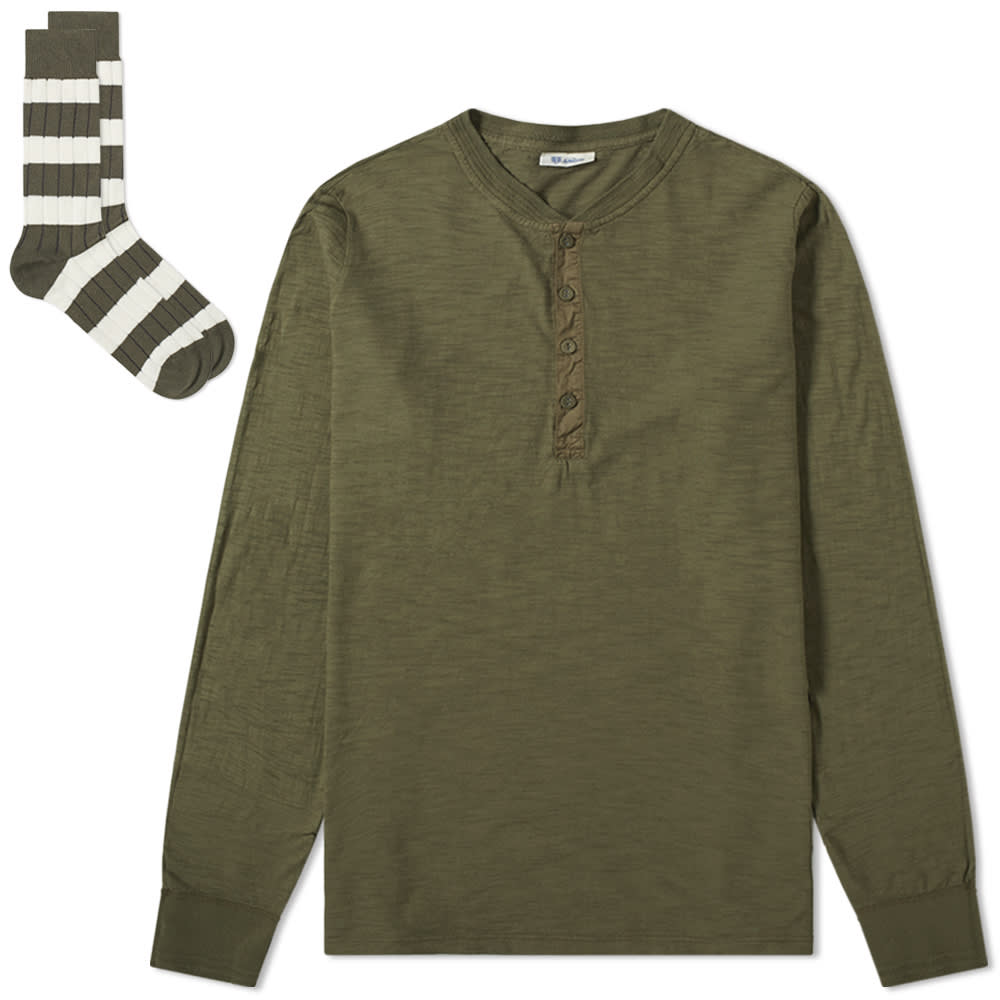 5403774354 Schiesser Hanno Top & Sock Pack Olive | END.