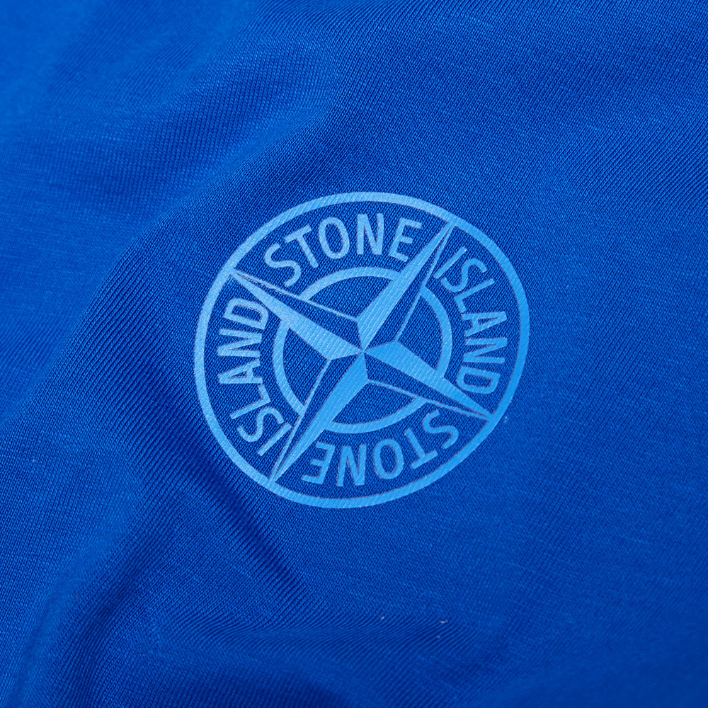 stone island reflective logo tee bluette. Black Bedroom Furniture Sets. Home Design Ideas