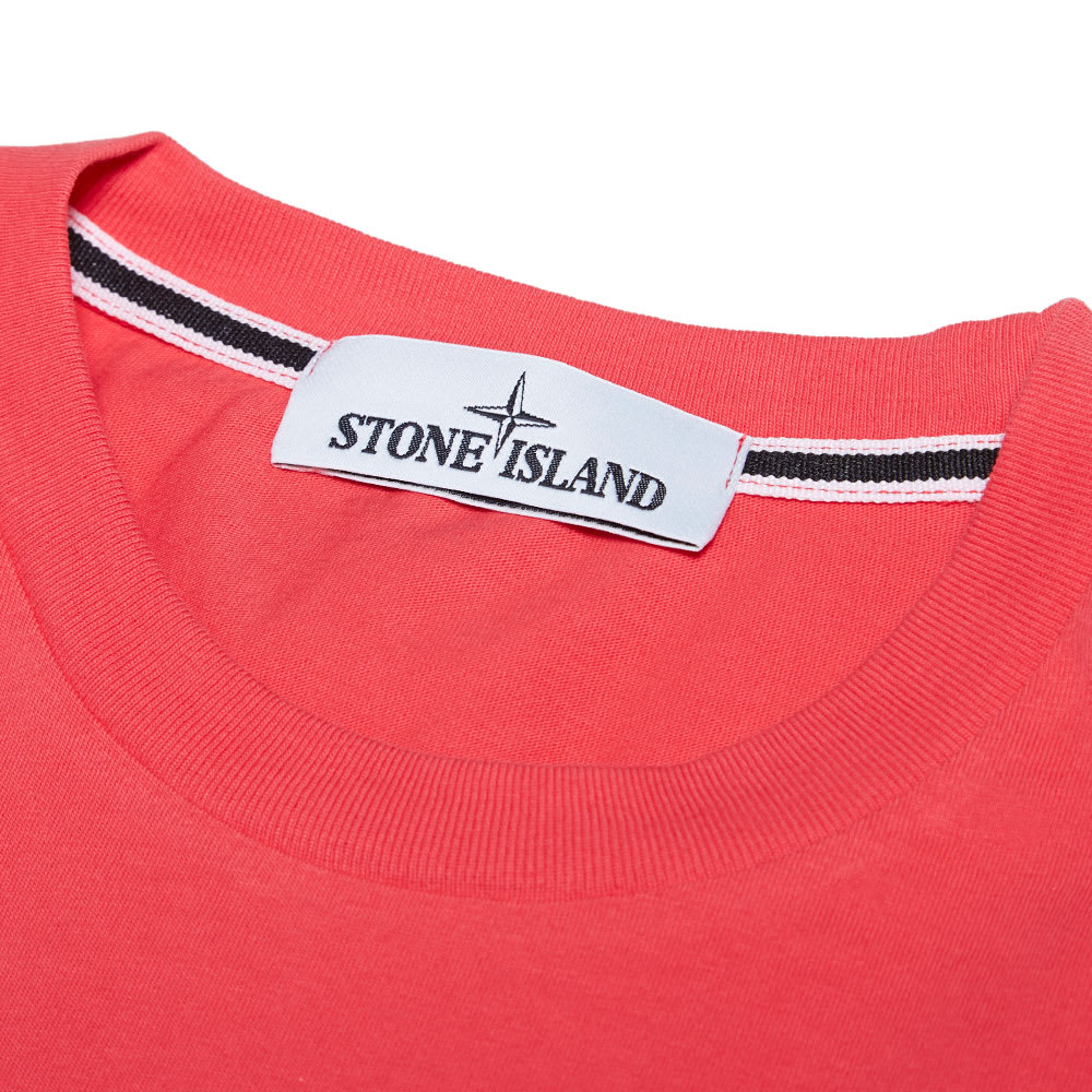 stone island reflective logo tee coral. Black Bedroom Furniture Sets. Home Design Ideas