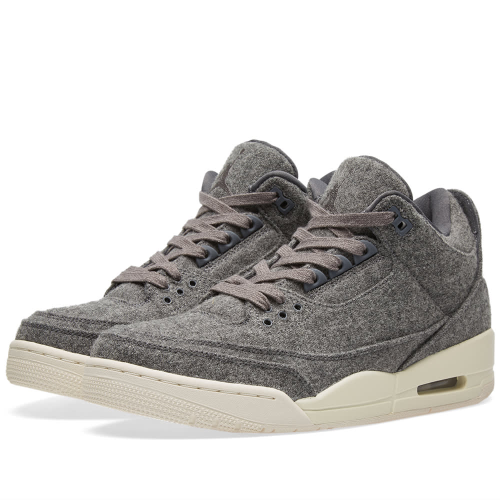25daf7040db36e Nike Air Jordan 3 Retro Wool Dark Grey   Sail