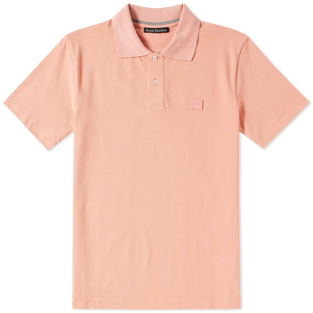 e6abf13c6dc Acne Studios Newark Face Polo Pale Pink   Light Grey Melange
