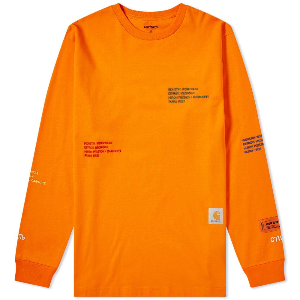 a41cd0c96646 Heron Preston x Carhartt WIP Long Sleeve Tee Orange   Multi