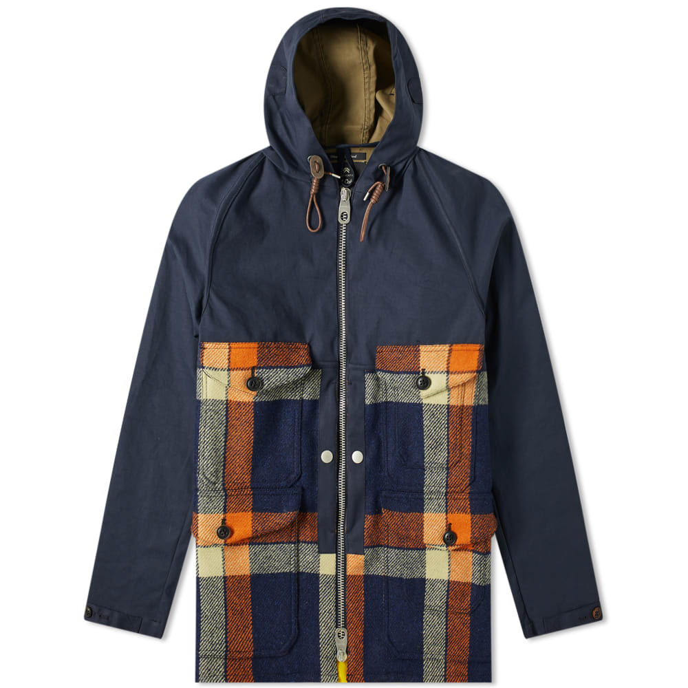 a923c1718030 Nigel Cabourn Cameraman Extension Jacket Navy Check