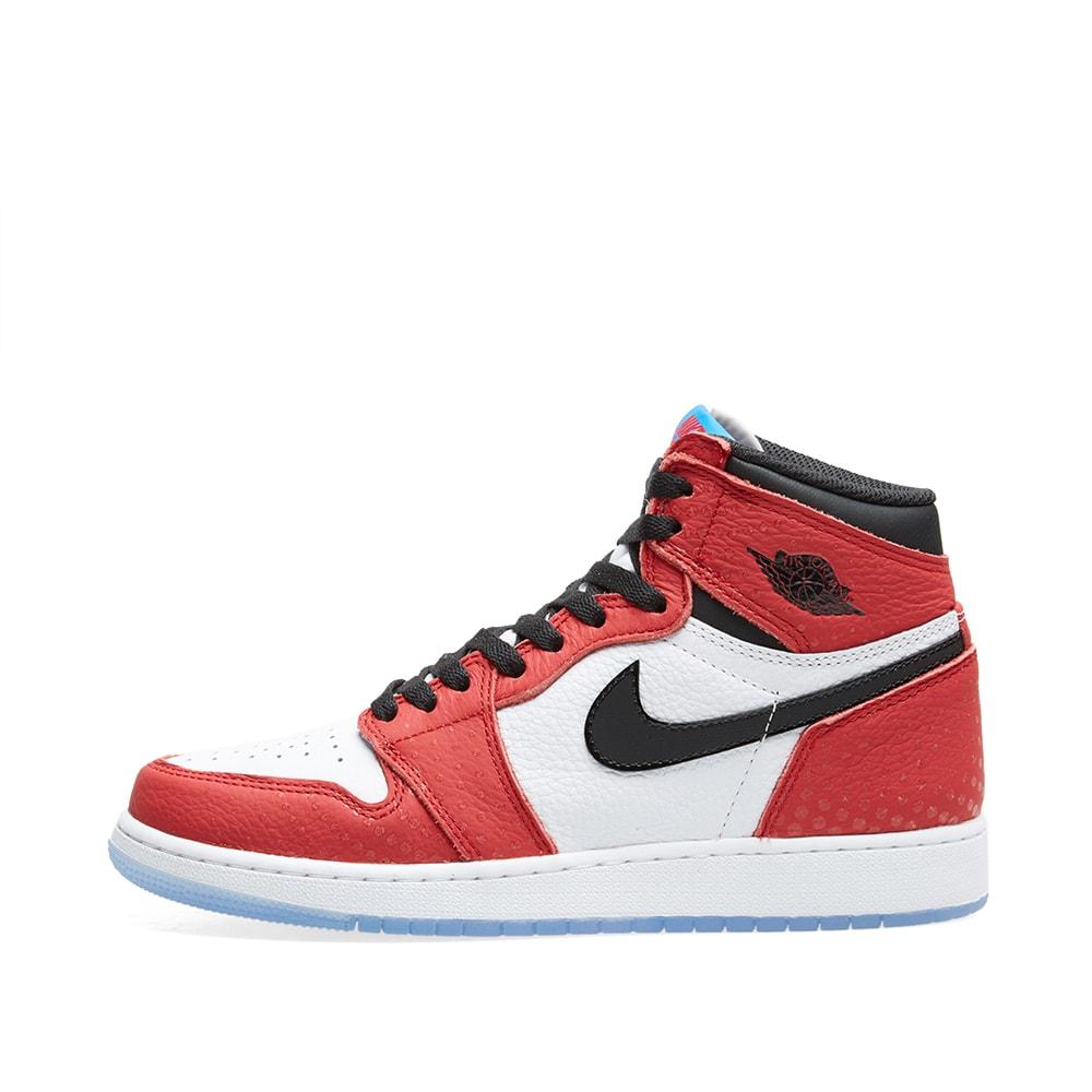 sports shoes b265a 1ddfc Nike Air Jordan 1 Retro High OG BG Gym Red, Black   Blue   END.