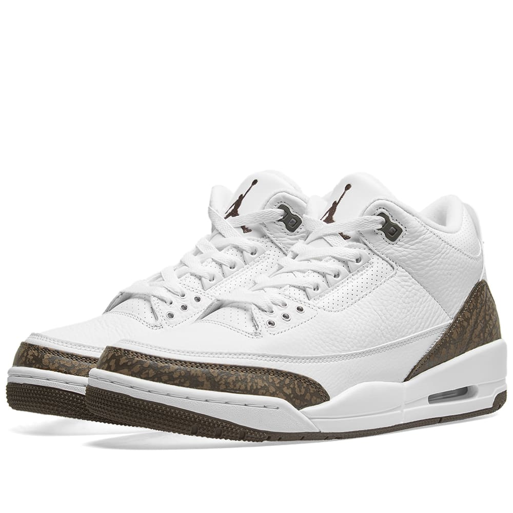 quality design 10764 fc3ec Air Jordan 3 Retro White, Dark Mocha   Chrome   END.