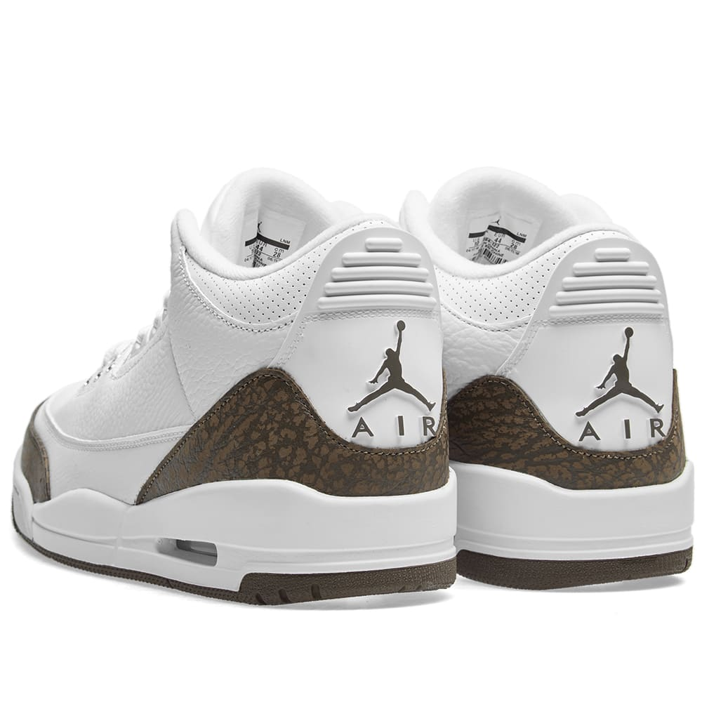 quality design 7e93f 6ca43 Air Jordan 3 Retro White, Dark Mocha   Chrome   END.