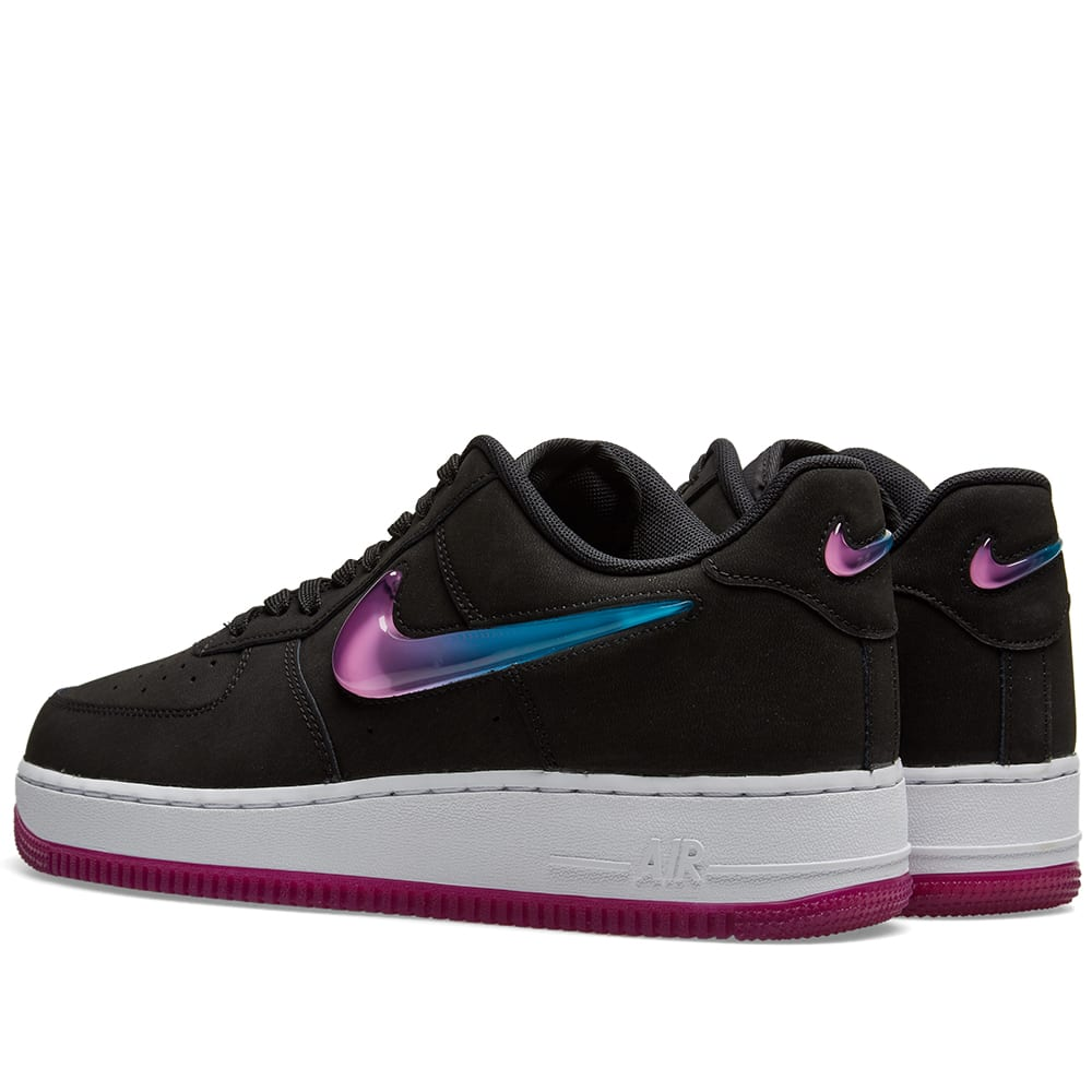 reputable site 65506 e4414 Nike Air Force 1 '07 Premium 2 'Jelly Swoosh' Black, Fuschia & Blue | END.
