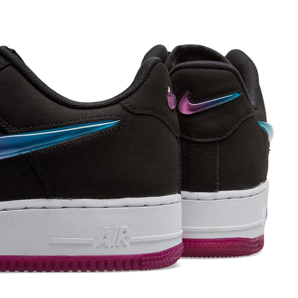 NIKE AIR FORCE 1 07 Premium Jelly Swoosh Black White Pink Purple Blue 10 45 11