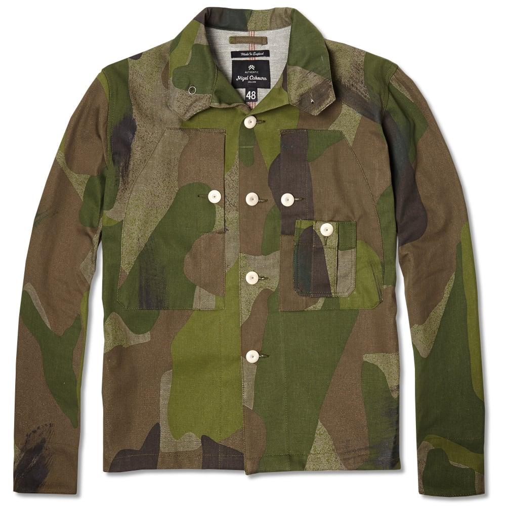 03d24a668751e Nigel Cabourn Classic Shirt Jacket Army Camo | END.
