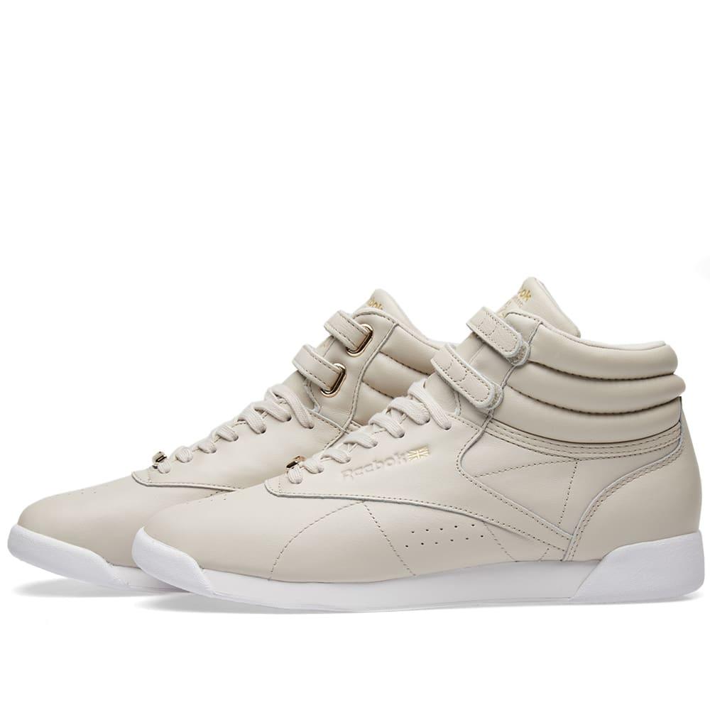 Reebok Classics Freestyle Hi Muted Sandstone//White ⭐️ CN1496 ⭐️